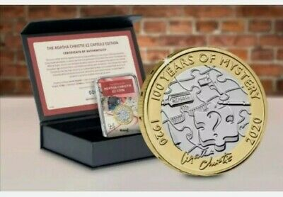 £21.99 • Buy 2020 Agatha Christie 2 Coins Signed Capsule Edition In Case And Coa Royal Mint