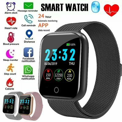 AU31.90 • Buy Women Men Smart Watch Heart Rate Monitor Fitness Tracker For Android IPhone Gift