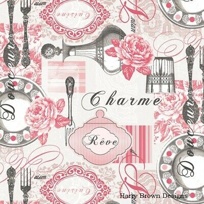 £1.44 • Buy 2 Paper Napkins / Serviettes For Decoupage / Parties / Weddings - French Charm