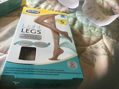 £0.99 • Buy SCHOLL Light Legs Compression Tights Ladder Resistant Comfort 20 Den Nude Small