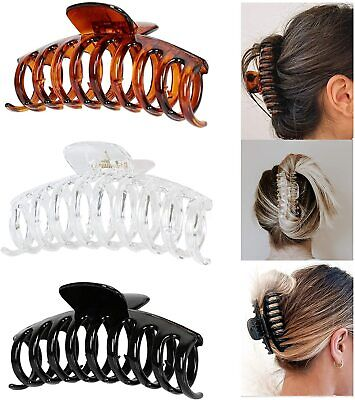 £4.99 • Buy Women Girls Large Hair Claw Clamps Clips Butterfly Claw Clamp Hair Accessories
