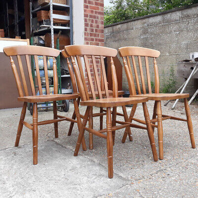 £45 • Buy Set Of Four Windsor Style Beech Farmhouse Dining Chairs