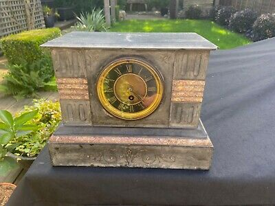 £9.99 • Buy Antique Marble And Slate Carriage Clock