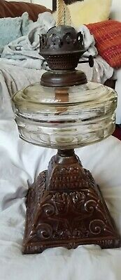 £12 • Buy Antique/Vintage Oil Lamp , Metal& Glass , English Made , No Shade