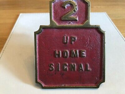 £37 • Buy Lswr London South Western Railway Signal Lever Description Plate Up Home Signa