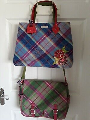 £15 • Buy Ladies Blue & Red Handbag And Green & Pink Satchel Bag By Ness - Pre-owned