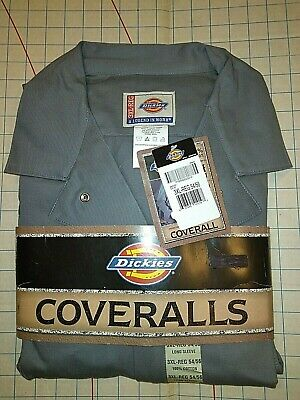 $39.99 • Buy DICKIES 4870 DELUXE COVERALLS 3XL Gray Long Sleeve Mens Mechanic 100% Cotton New