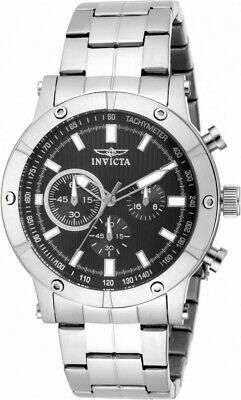 £13.30 • Buy Invicta Specialty 18161 Men's Round Black Chronograph Stainless Steel Watch