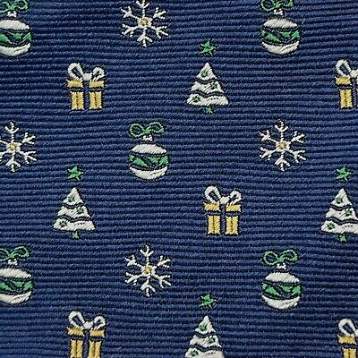 $19.99 • Buy Daniel Cremieux ~  Mens Navy Christmas Holiday 100% Silk Bow Tie  ~ New