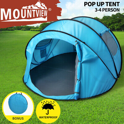 AU99.99 • Buy Mountview Pop Up Camping Tent Beach Outdoor Family Tents Portable 4 Person Dome