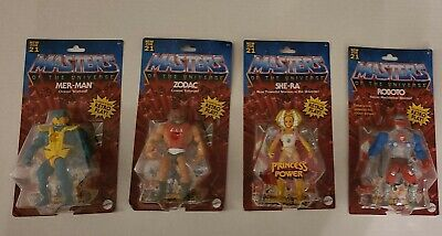 $61 • Buy Masters Of The Universe Origins Wave 3 Lot Mer-man, Zodac, She-Ra,Roboto IN HAND