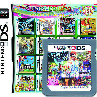 $19.99 • Buy 208 In 1 Multi Game Cartridge Pokemon For Nintendo DS NDSL 3DS 2DS Gifts Present