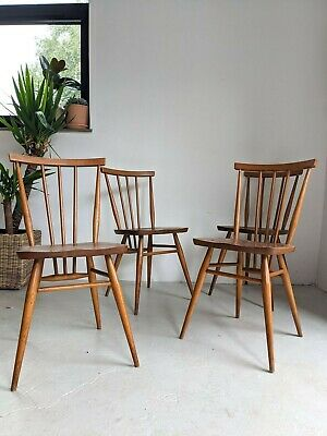 £360 • Buy Ercol Windsor 391 Dining Chairs. Set Of Four. Beech And Elm Vintage Mid Century
