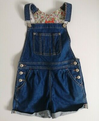 £19.99 • Buy MINI BODEN Mid Blue Denim Turn Ups Short Dungarees With Pockets Age 7-8
