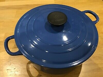 £9.99 • Buy Le Creuset Casserole, In Excellent Used Condition, 24cm Wide Blu
