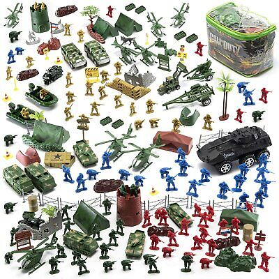 $34.91 • Buy Military Mini Action Figure Play Set W/ Soldier Vehicle Aircraft Boat 200 Pcs