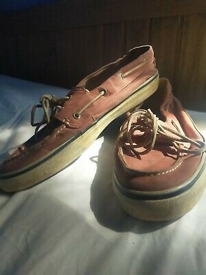 £14.50 • Buy SPERRY TOP SIDER MEN'S 2-EYE CANVAS BOAT SHOES Size 11 Uk