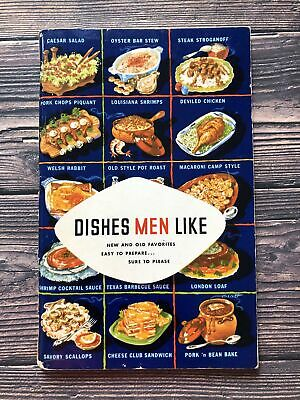 £7.90 • Buy Vintage Dishes Men Like Cookbook Booklet 1952 1950's Housewife Recipes