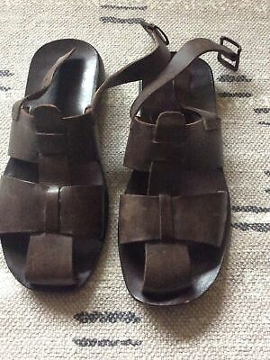 £8 • Buy Roland Cartier Brown Leather Sandals Uk 8 Summer Shoes