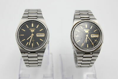 £29 • Buy 2 X Vintage Gents SEIKO 5 WRISTWATCHES Automatic WORKING Ref. 7009-3130