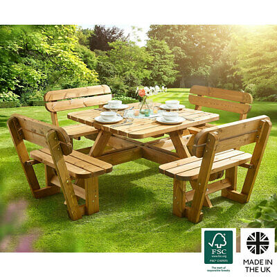 £633.99 • Buy Anchor Fast 8 Seater Pine Wood Picnic Bench