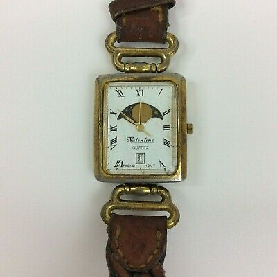 $ CDN37.60 • Buy Vintage Valentino Watch Womens Moon Phase Gold Tone Date For Parts Or Repair