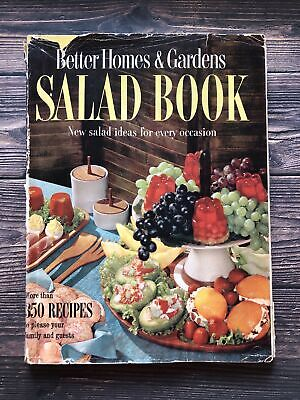 £7.90 • Buy Vintage Better Homes And Gardens Salad Book Cookbook 1958 1950's Housewife