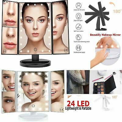 £10.75 • Buy 24 Led Make Up Mirror 20x Magnifying Touch Screen Bathroom Vanity Cosmetic Light