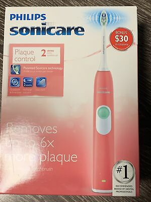 AU53.26 • Buy Philips Sonicare HX6211/47 Plaque Control Series 2 Coral Pink Sonic Toothbrush