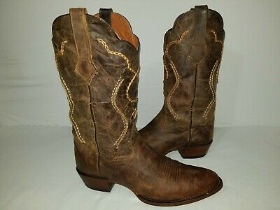 $38 • Buy Dan Post Albany DP26682 Buck-Lace Distressed Western Cowboy Boots Size 10 EW