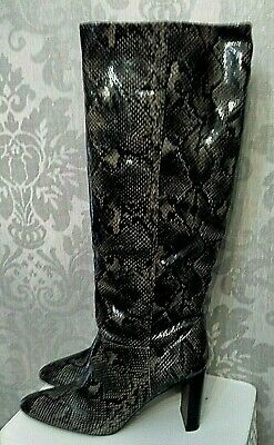 £39 • Buy Next Size 7 Snake Forever Comfort Feature Heel Long Knee High Boots (b12