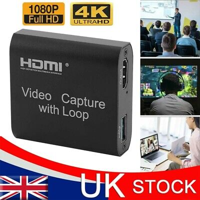 £12.82 • Buy 4K HD HDMI Video Capture Card 1080P 60fps USB 2.0 Mic Game Record Live Streaming