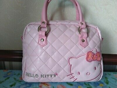 £5.50 • Buy Hello Kitty Pink Quilted Bowling Bag With A Bag Charm