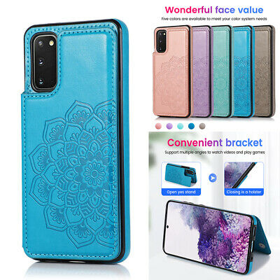 AU9.89 • Buy Samsung S21 Note 20 Ultra S10 S9 8 Case Magnetic Flip Leather Wallet Cards Cover