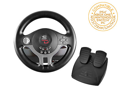 £53.96 • Buy Steering Wheel Racing Gaming Simulator And Pedal Set Driving Xbox One, PS4, PC
