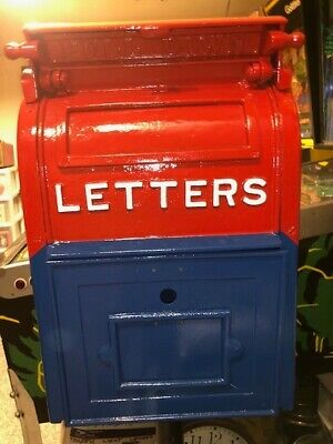 $850 • Buy Antique Postal Mail Box, Cast Iron With Base.