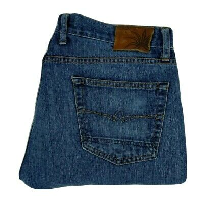 $30 • Buy Agave Men's Jeans Size 36x30 Waterman Relaxed Straight Fit Blue Distressed Denim