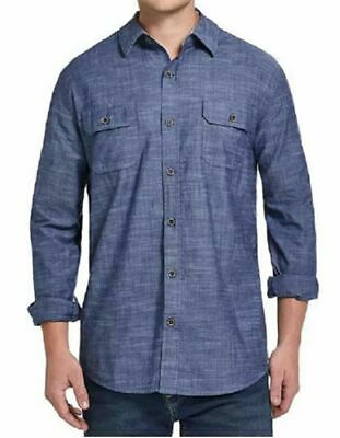 $21.99 • Buy Weatherproof Vintage Men's Chambray Cotton Long Sleeve Button Down Shirt