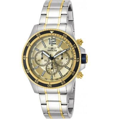 £1.62 • Buy Invicta Specialty 13976 Men's Round Gold Dial Chronograph Analog Watch