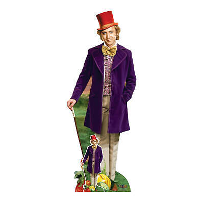 £39.99 • Buy Willy Wonka Lifesize Cardboard Cutout Official Gene Wilder Standee And Free Mini