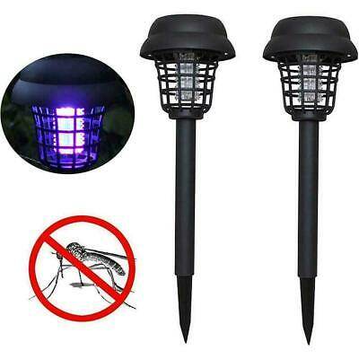 £7.44 • Buy 2X Solar Powered Outdoor Mosquito Fly Bug Insect Zapper Light Lamp Trap X9M1