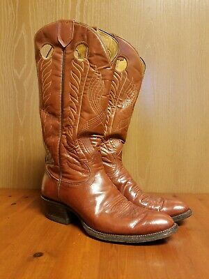 $45 • Buy TONY LAMA Brown Leather Cowboy Western Boots Men's US Size 9 B Style 8955
