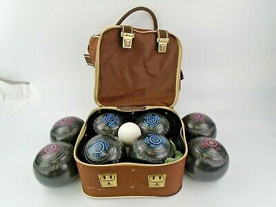 £99.99 • Buy Two Sets Of Size 0 Taylor Elite Bowls + Jack In A Brown Lindop Carry Case