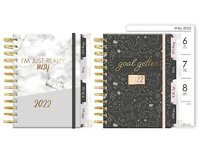 £4.32 • Buy 2022 A5 Personal Organiser Diary With Dividers Week To View Grey Black