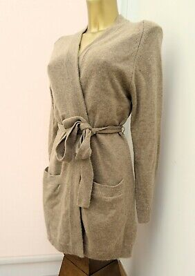 £24.99 • Buy M & S Autograph Merino Wool & Cashmere Long Belted Cardigan Camel