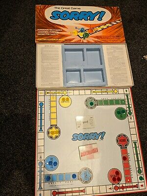 £15.75 • Buy  Waddingtons The Great Game Of Sorry Board Game. Vintage1969. 100%Complete VGC