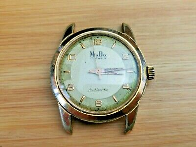 $ CDN34.86 • Buy Vintage MuDu Doublematic Men's 17 Jewels Automatic Watch For Parts / Repair