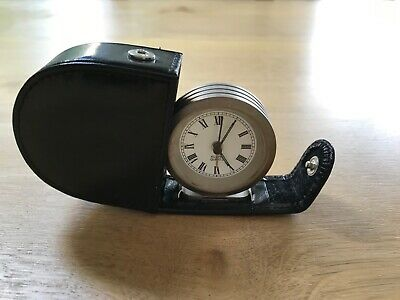 £5 • Buy Small Travel Alarm Clock In Leather Case - John Lewis