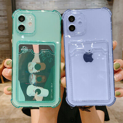 AU12.89 • Buy For IPhone 13 Pro Max 12 11 XS XR 8 7 Case Clear Rubber Wallet Card Holder Cover