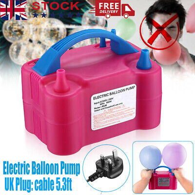 £16.98 • Buy Portable Dual Nozzle Electric Balloon Pump Inflator Air Blower Party Birthday UK
